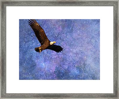 Beauty In Flight - Bald Eagle Framed Print by J Larry Walker