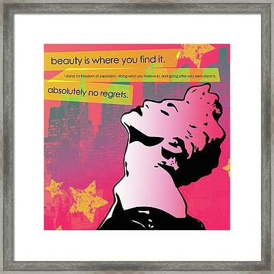 Beauty Is Where You Find It Framed Print by dreXeL