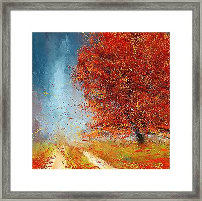 Beauty Of It- Autumn Impressionism Framed Print by Lourry Legarde