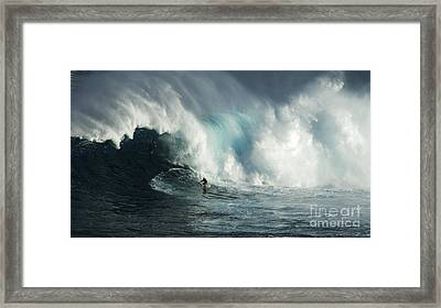 Beauty Of Surfing Jaws Maui 7 Framed Print by Bob Christopher