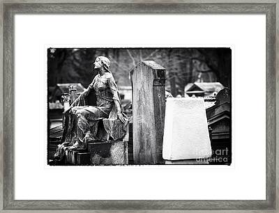 Beauty Of The Cemetery Framed Print by John Rizzuto