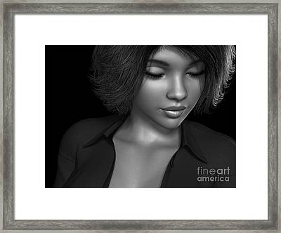 Beauty Was Her Name Bw Framed Print by Alexander Butler