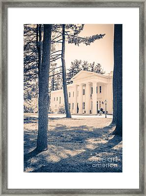 Beaux Arts-style Mansion Middletown Connecticut Framed Print by Edward Fielding