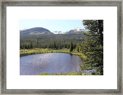 Beaver Ponds Rocky Mountains Np Framed Print by Christiane Schulze Art And Photography