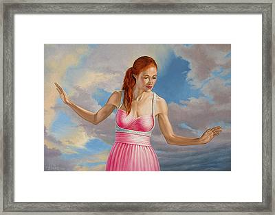 Becca In Pink Framed Print by Paul Krapf