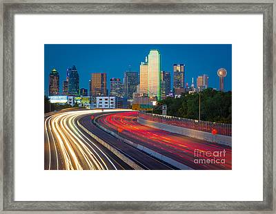 Beckoning Lights Framed Print by Inge Johnsson