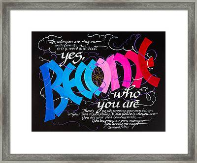 Become Framed Print by Claire Griffin