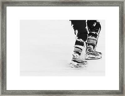 Becomes The Ice Framed Print by Karol Livote