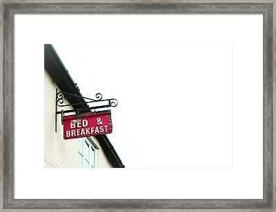 Bed And Breakfast Framed Print by Tom Gowanlock