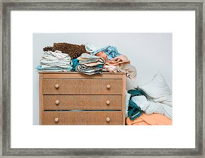 Bed Linen Framed Print by Tom Gowanlock