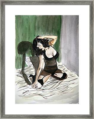 Bed Passion. Framed Print by Shlomo Zangilevitch