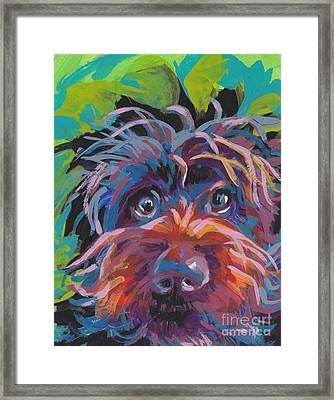 Bedhead Griff Framed Print by Lea S