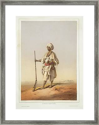 Bedouin From Cairo Framed Print by British Library