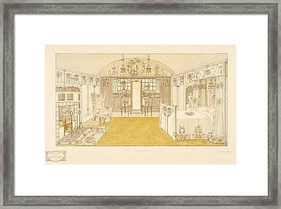 Bedroom, Logan George Framed Print by George Logan