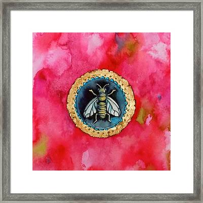 Bee Seal Framed Print by Roleen  Senic