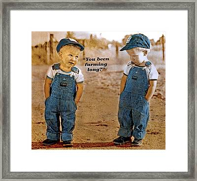 Been Farming Long Framed Print by Mike Flynn