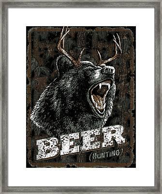 Beer Bear Framed Print by Robert Schmidt