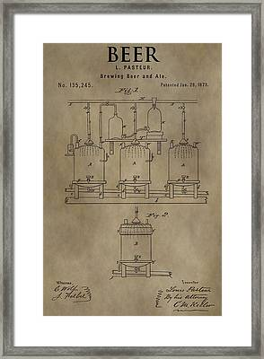 Beer Brewery Patent Framed Print by Dan Sproul
