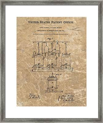Beer Brewery Patent Illustration Framed Print by Dan Sproul