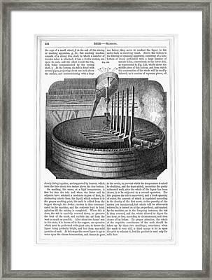 Beer Brewing, 1853 Framed Print by Granger