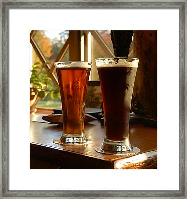 Two Craft Beers Framed Print by David Lee Thompson