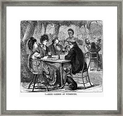 Beer Garden Framed Print by Granger