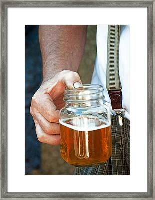 Beer He Drank Framed Print by Gwyn Newcombe