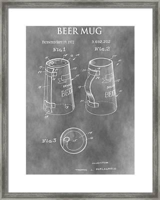 Beer Mug Patent Framed Print by Dan Sproul