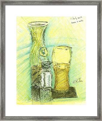 Beer N Nuts Framed Print by William Killen
