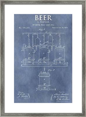 Beer Patent Framed Print by Dan Sproul