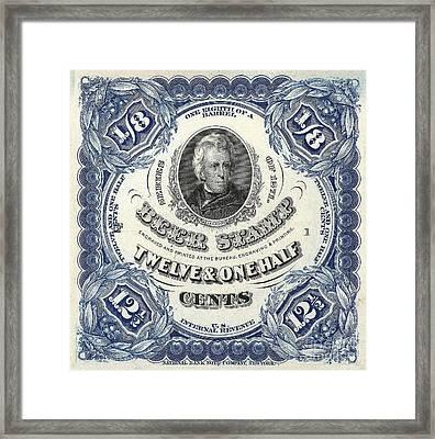 Beer Tax Stamp Framed Print by Jon Neidert