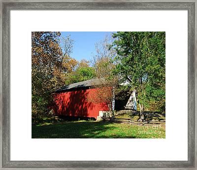 Beeson Covered Bridge 1 Framed Print by Mel Steinhauer