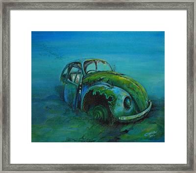 Beetle Forever Framed Print by Ottilia Zakany