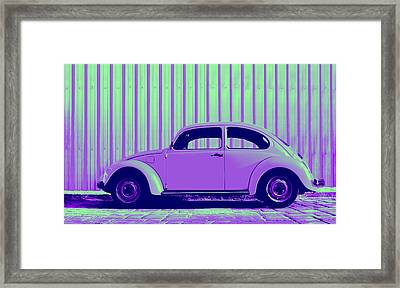Beetle Pop Purple Framed Print by Laura Fasulo