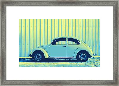 Beetle Pop Sky Framed Print by Laura Fasulo