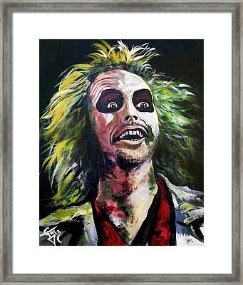 Beetlejuice Framed Print by Tom Carlton