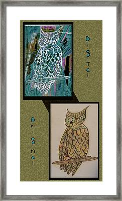 Before And After Owl Framed Print by Melissa Osborne