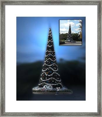 Before And After Sample Art 39 Hollywood Xmas Tree Framed Print by Thomas Woolworth