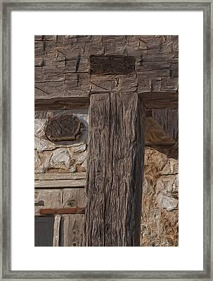 Before Power Tools Framed Print by Jack Zulli