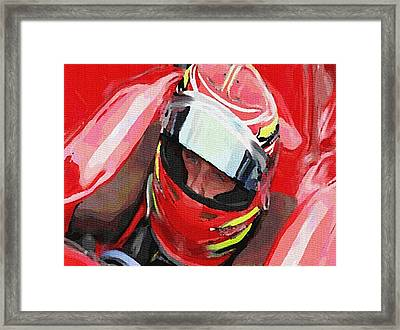 Before The Green Flag Framed Print by Dennis Buckman