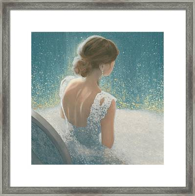 Before The Opera Blue Framed Print by James Wiens