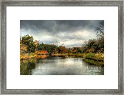 Before The Rain Framed Print by Darren Fisher