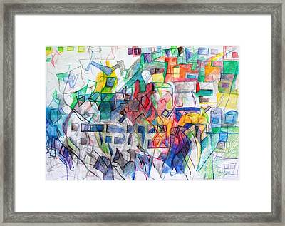 Behar Bechukothai Framed Print by David Baruch Wolk