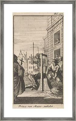 Beheading Of Masaniello, 1647, Caspar Luyken Framed Print by Caspar Luyken And Boudewijn Van Der Aa