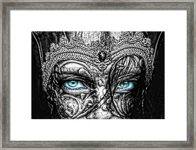 Behind Blue Eyes Framed Print by Mo T