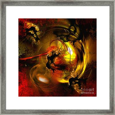 Behind The Curtain Framed Print by Franziskus Pfleghart