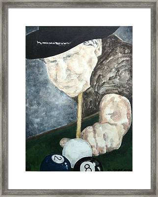 Behind The Eight Ball Framed Print by Crystal Hayes