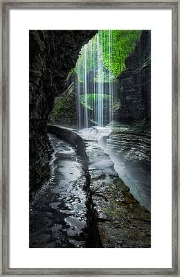 Behind The Falls Framed Print by Bill Wakeley