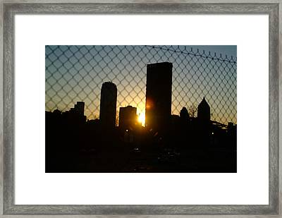 Behind The Fence Framed Print by Chris Hayworth