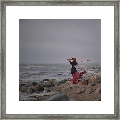 Behind The Horizone Framed Print by Anka Zhuravleva